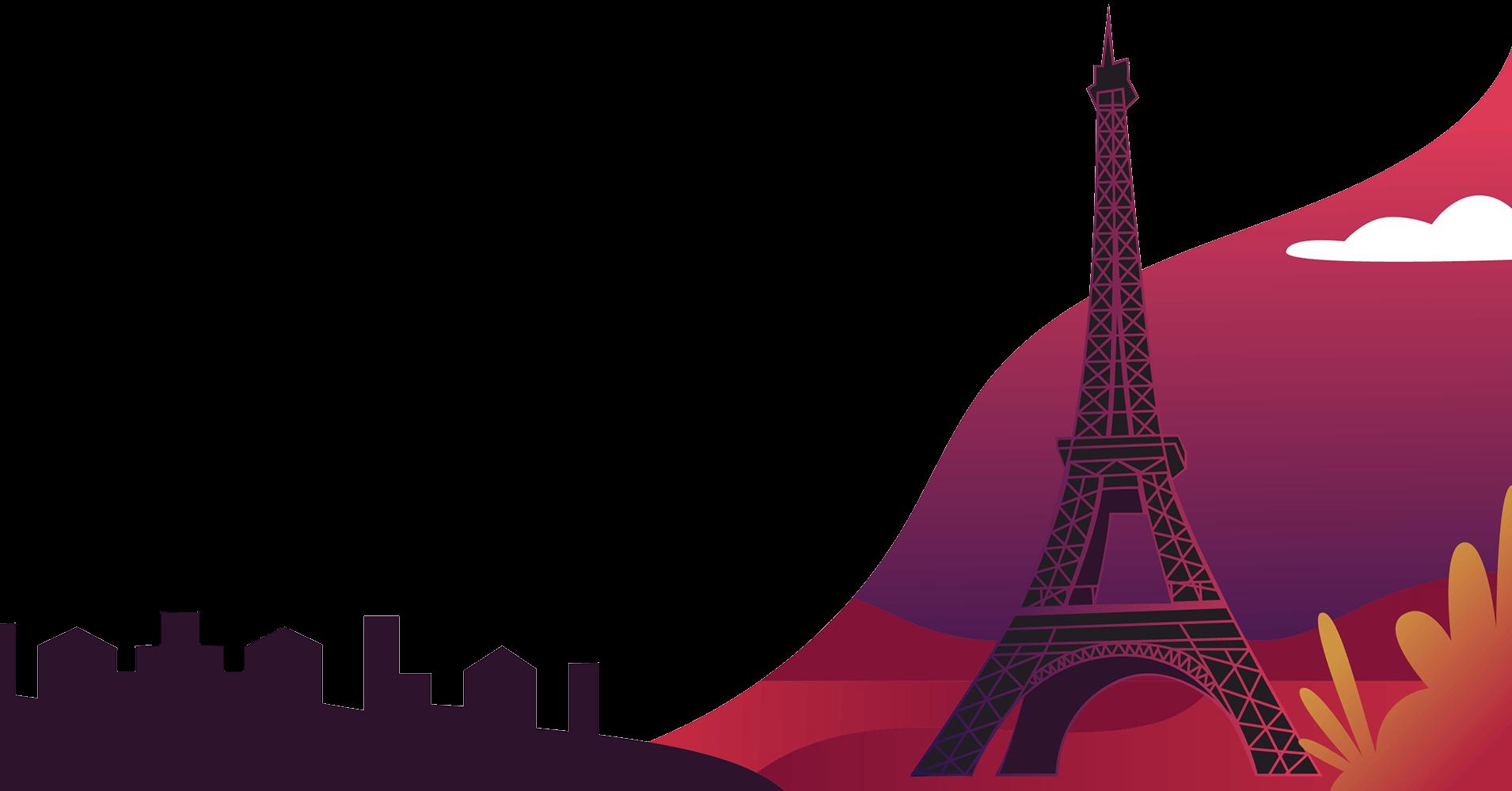 Francja z wieżą Eiffla